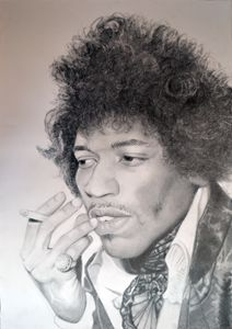 Jimi Hendrix drawing 100x70