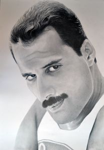 Freddie Mercury drawing 100x70