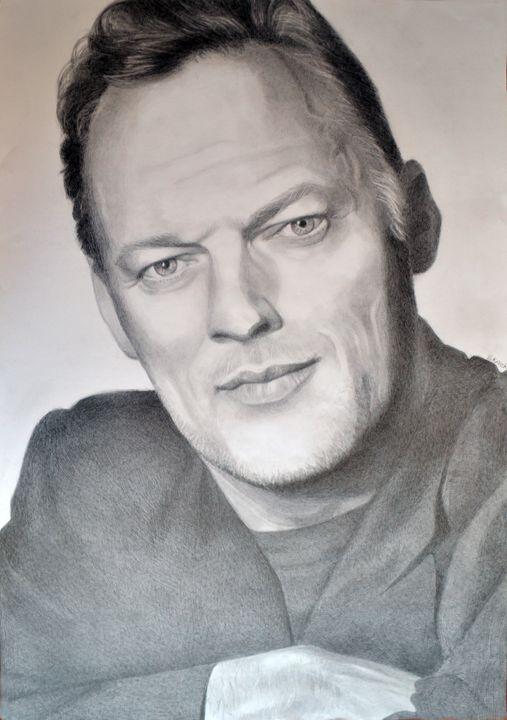 David Gilmour drawing 100x70 - Sara's