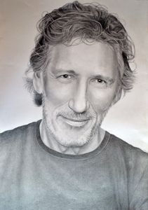 Roger Waters drawing 100x70