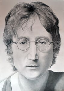 John Lennon drawing 100x70