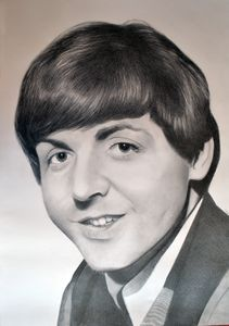 Paul McCartney drawing 100x70