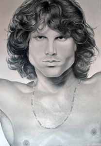 Jim Morrison drawing 100x70