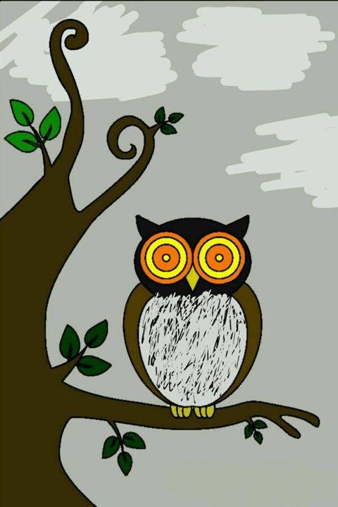 Perching Owl - Groovy Angel