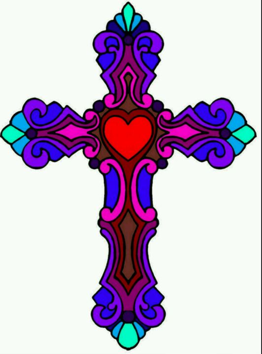Colorful cross - Groovy Angel