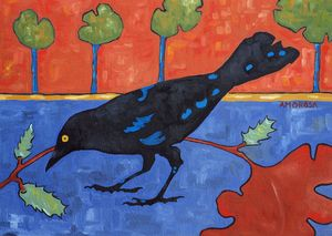 Fall Crow - Amorosa Gallery