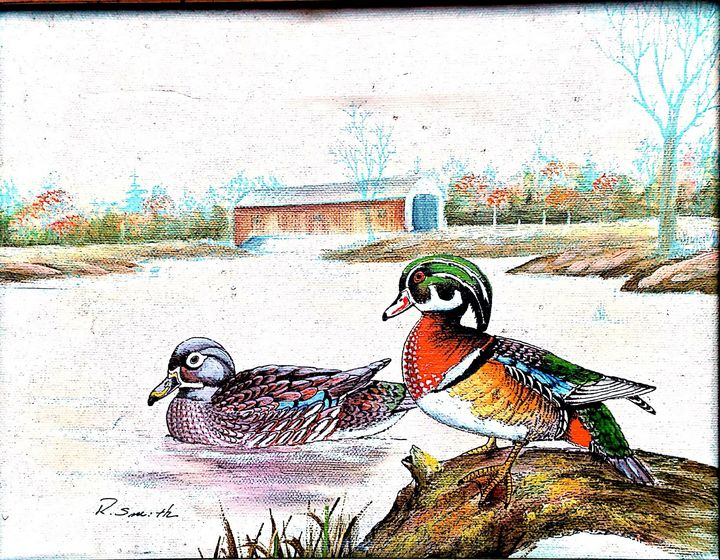 R.Smith. Ducks swimming in the pond - Aira