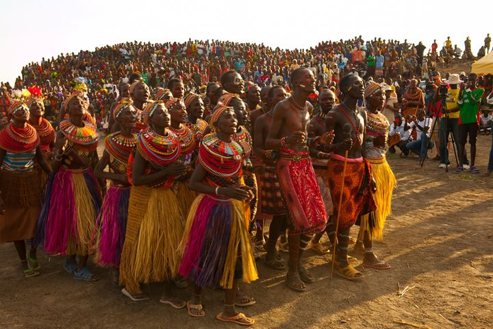 Turkana Traditional Dancers - Normads Art Studio