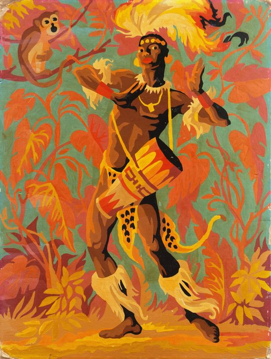 African Traditional Dancer - Normads Art Studio - Paintings ...