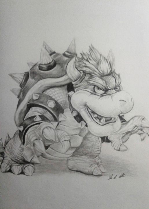 Bowser Super Mario Bros Kirk S Artworks Drawings