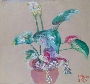Planta con flores en maceta