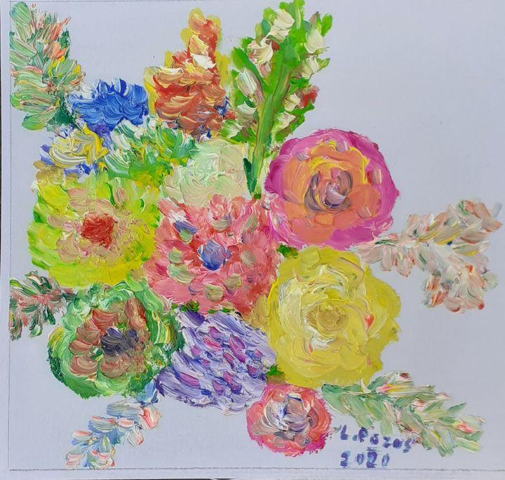 Flores de colores - Loli Pozos