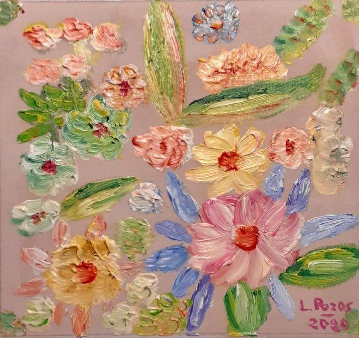 Flores flotando - Loli Pozos