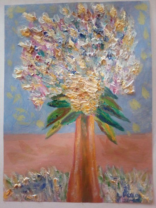 Jarrón con flores - Loli Pozos