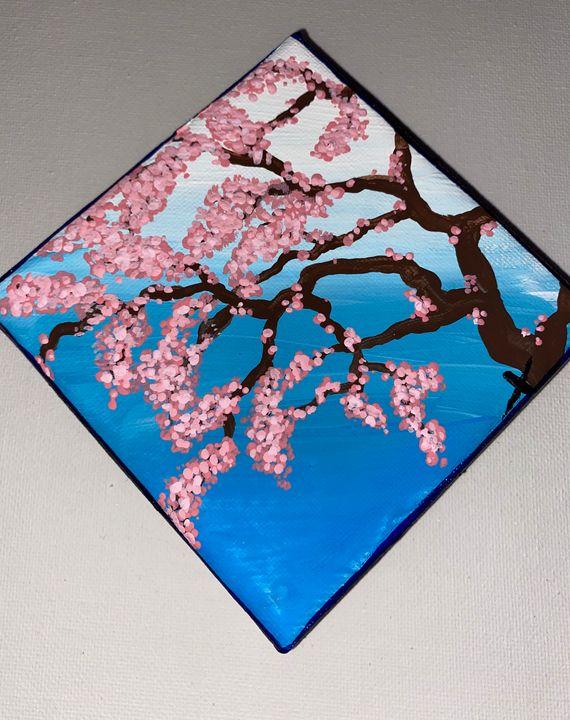 Sakura's Return painting - Voidfell Art