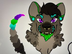 Fursona Colored headshot