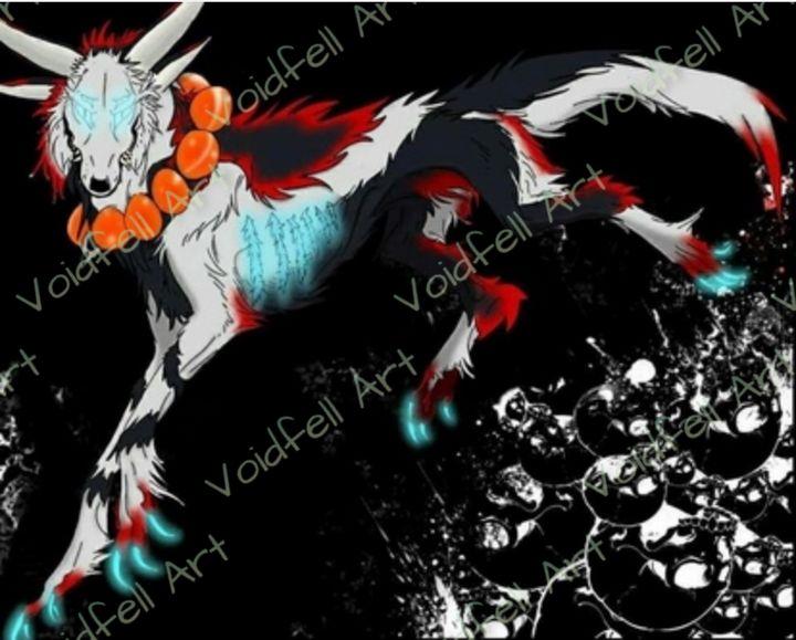 Colored Full Body Feral Fursona - Voidfell Art