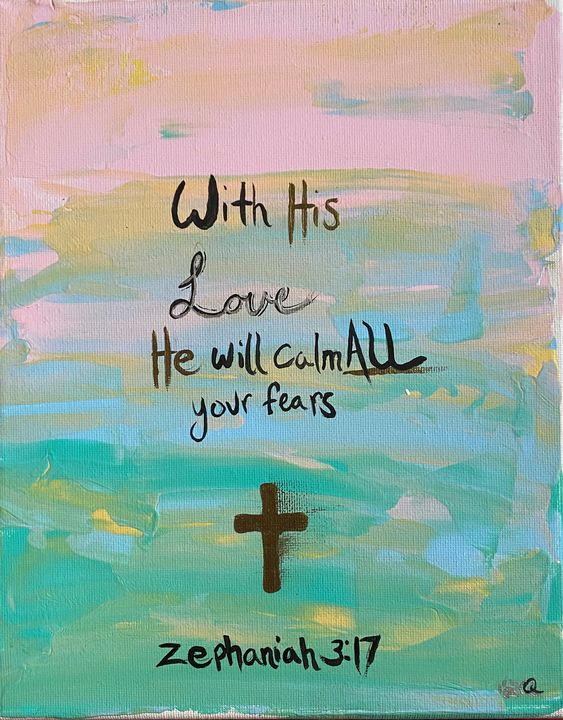 Bible Verse Canvas Painting - Voidfell Art