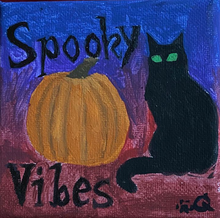 Spooky Vibes painting - Voidfell Art
