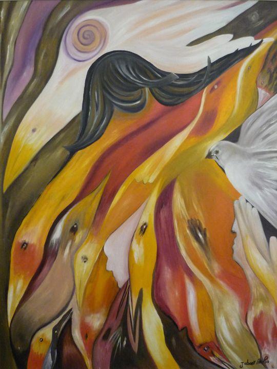 hours of hope   2007 - Aicha Jabari Moroccan painter