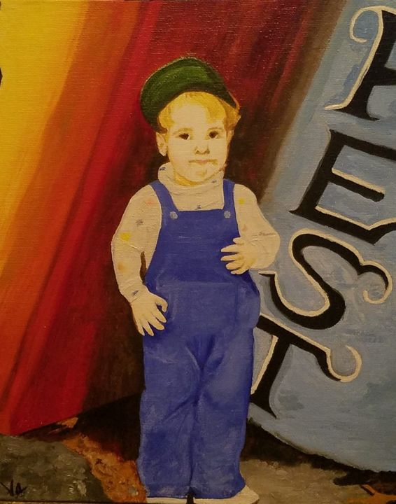 """""""Tony"""" (Example) 8 x 10 Commission - Vicky Ann Painting With Oils"""