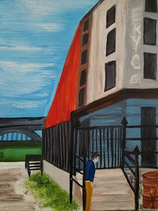 """""""Industrial Life"""" $40 - Vicky Ann Painting With Oils"""