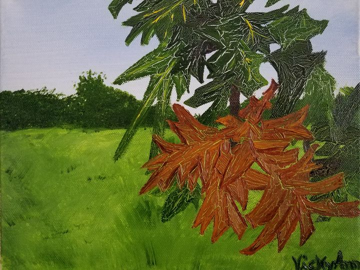 """Fall at Melvern"" - Vicky Ann Painting With Oils"