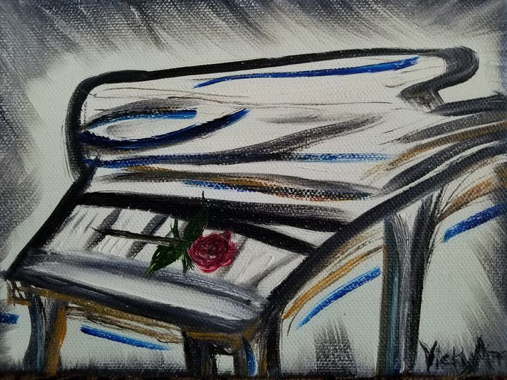 """Romancing the Piano"" - Vicky Ann Painting With Oils"