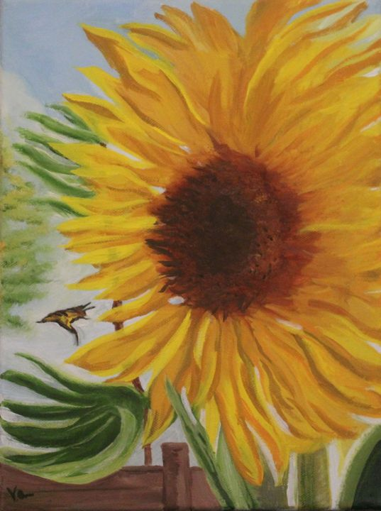 """""""Pollination"""" $200 - Vicky Ann Painting With Oils"""