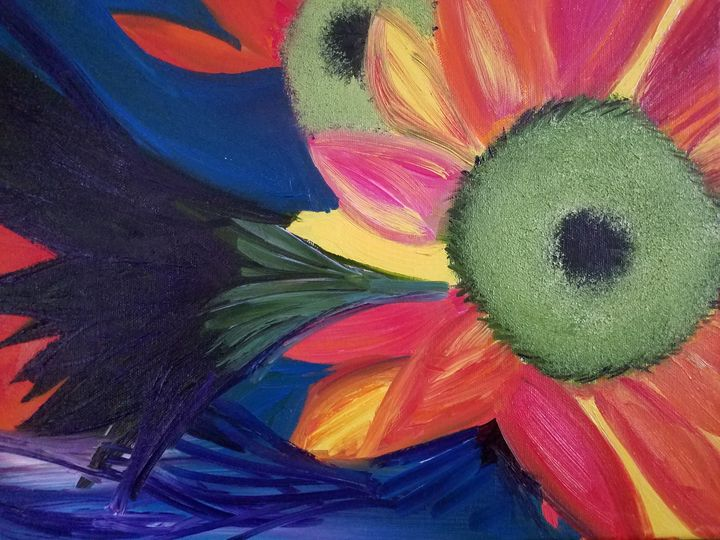 """""""Color Burst"""" (SOLD) - Vicky Ann Painting With Oils"""