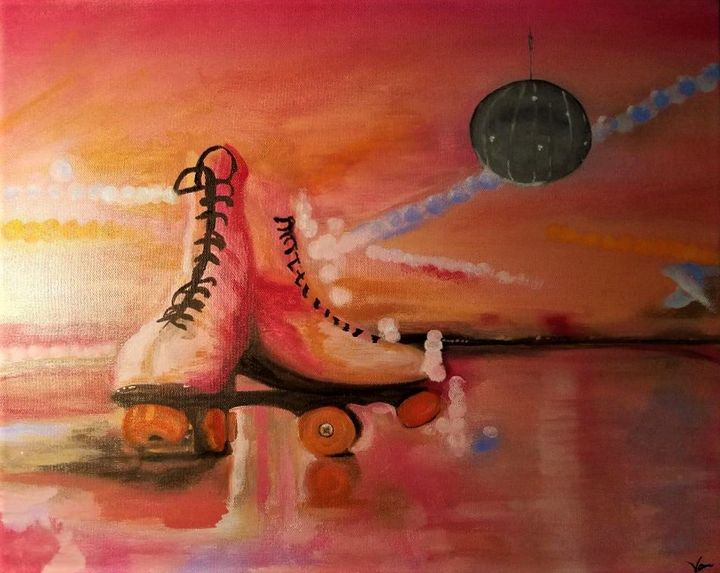 All Skate 20 x 16 - Vicky Ann Painting With Oils