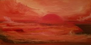 """Monochrome Sunset"" $225"