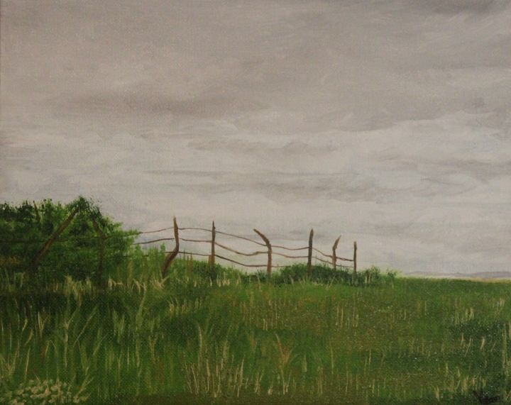"""""""Hill at Kaw Point"""" - Vicky Ann Painting With Oils"""