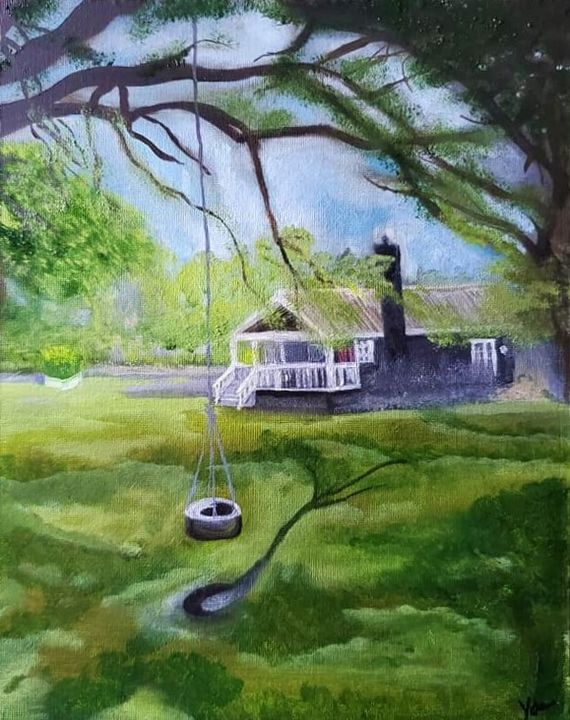 """""""Kirk's Backyard"""" (NOW SHOWING) - Vicky Ann Painting With Oils"""