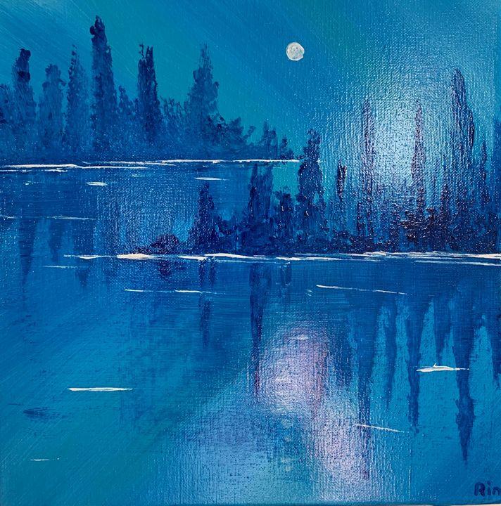 Bright Night - Art Studio by Rimma