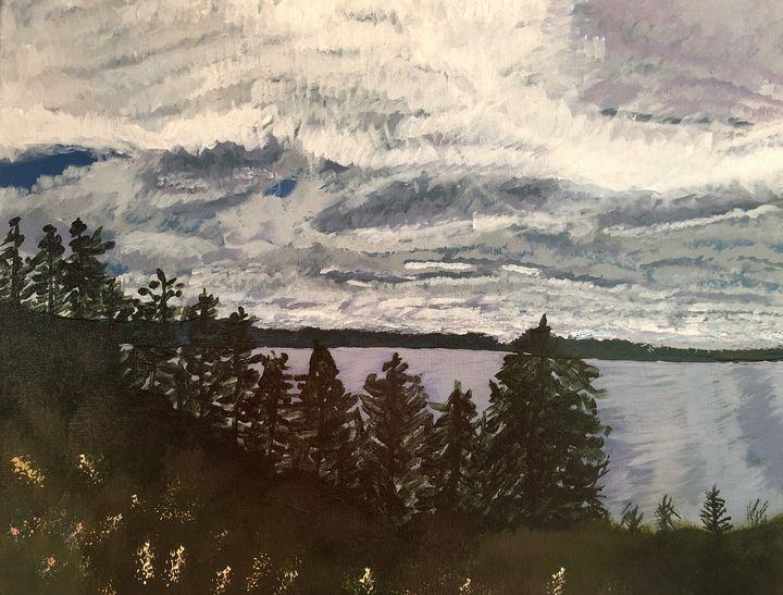 Sky over Cape Split, NS - Art Studio by Rimma