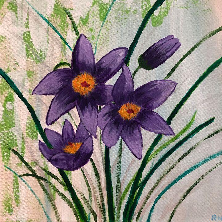 Crocus Flower - Art Studio by Rimma