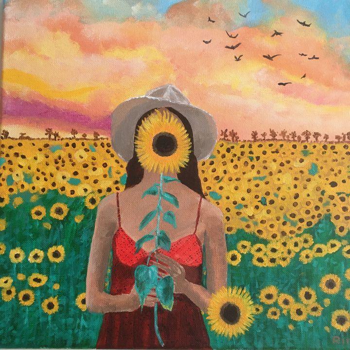 "We are Nature, Acrylic, 12x12"" - Art Studio by Rimma"
