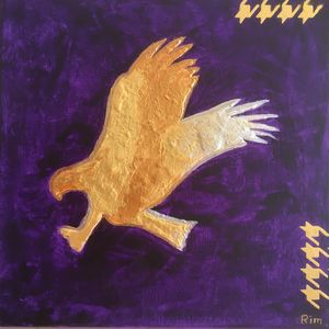 "Gold Eagle,12x12"", Acrylic"
