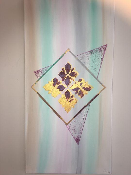 "Spring Slides, Acrylic, 12x24"" - Art Studio by Rimma"