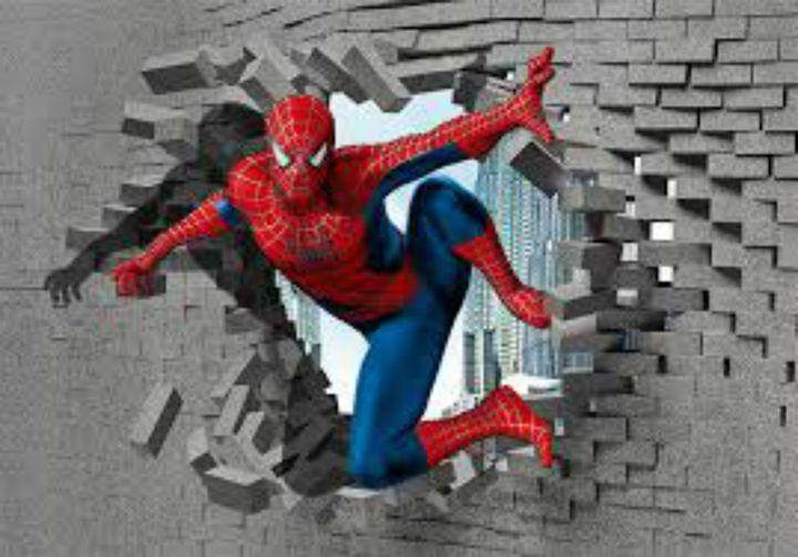 Spiderman through the wall - Fleurdelis