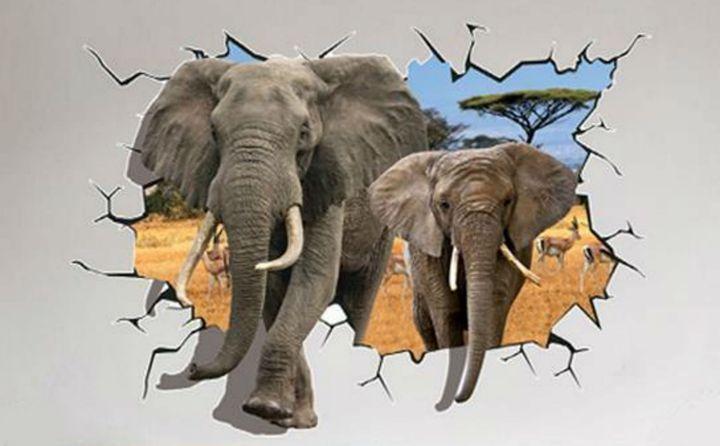 Elephants Break Wall - Fleurdelis