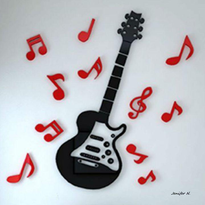 I Love my Guitar - Fleurdelis
