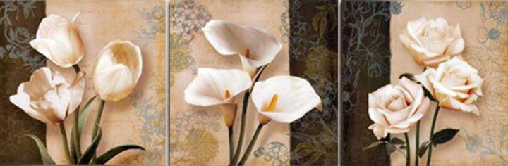 Three different kind of Flowers - Fleurdelis