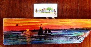 Sailboat sunset - Boardwalk Angels