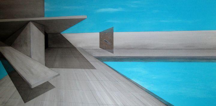the persistence of time - Darius Sanei paintings