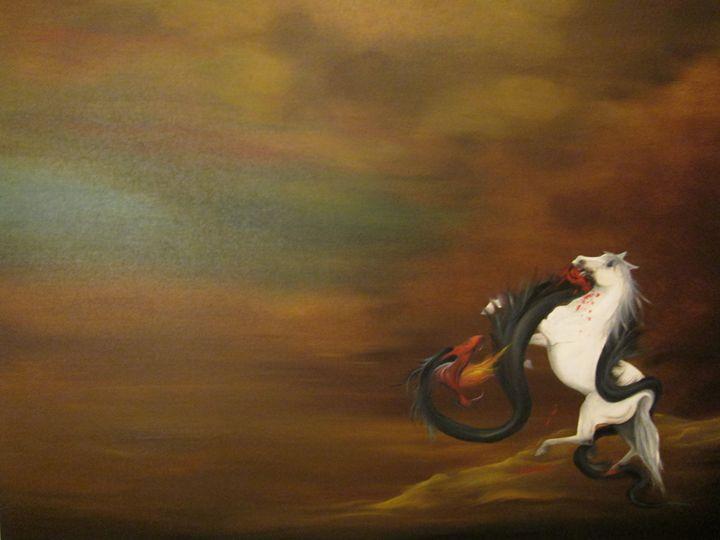 the struggle - Darius Sanei paintings