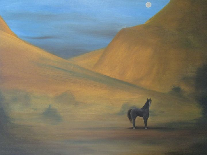 the mystery & meloncholy of a valley - Darius Sanei paintings