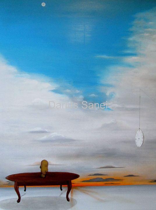 what time is it? - Darius Sanei paintings
