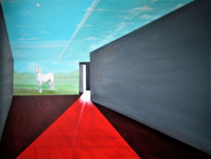 where is my appaloosa? - Darius Sanei paintings